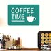 Cut It Out Wall Stickers Coffee Time Wall Sticker