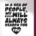 Cut It Out Wall Stickers Sea of People My Eyes Will Search For You Wall Sticker