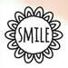 Cut It Out Wall Stickers Smile within Sunflower Wall Sticker