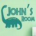 Cut It Out Wall Stickers Personalised Brachiosaurus Dinosaur Kids Room Sign Wall Sticker