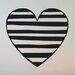 Cut It Out Wall Stickers Striped Heart Wall Sticker