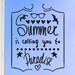 Cut It Out Wall Stickers Summer Is Calling You To Paradise Wall Sticker