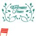 Cut It Out Wall Stickers Welcome Home Flower And Vines Wall Sticker