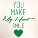 Cut It Out Wall Stickers You Make My Heart Smile Wall Sticker