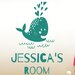 Cut It Out Wall Stickers Personalised Cute Baby Whale Kids Room Sign Wall Sticker