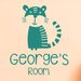 Cut It Out Wall Stickers Personalised Tiger Kids Room Sign Wall Sticker