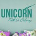 Cut It Out Wall Stickers Unicorn Faith Is Believing Wall Sticker