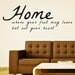 Cut It Out Wall Stickers Home Where Your Feet May Leave But Not You Wall Sticker