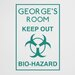 Cut It Out Wall Stickers Personalised Keep Out Bio Hazard Boys Room Sign Wall Sticker