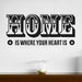 Cut It Out Wall Stickers Home Is Where Your Heart Is Two Stars Wall Sticker