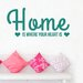 Cut It Out Wall Stickers Home Is Where Your Heart Is Two Cute Heart Wall Sticker