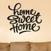 Cut It Out Wall Stickers Home Sweet Home Felt Tip Pen Wall Sticker