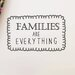 Cut It Out Wall Stickers Families Are Everything Wall Sticker