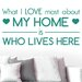 Cut It Out Wall Stickers What I Love Most About My Home Is Who Lives Here Wall Sticker