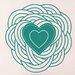 Cut It Out Wall Stickers Spiral Heart Wall Sticker