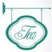 Cut It Out Wall Stickers Tea Shop Sign Wall Sticker