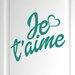 Cut It Out Wall Stickers Je Taime Door Room Wall Sticker