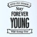 Cut It Out Wall Stickers Never Stop Dreaming Stay Forever Young Wall Sticker