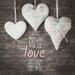 Pro-Art Glasbild Love Hearts, Kunstdruck