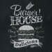 Pro-Art Glasbild Burger House, Kunstdruck