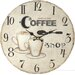 dio Only for You Analoge Wanduhr Coffee Shop 34 cm