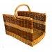 Artesania San Jose Willow Rectangular Basket For Firewood Log Rack