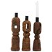 House Doctor Everyday 2016 3 Piece Wood Candlestick Set