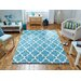 Breakwater Bay Bayville Hand-Tufted Teal Area Rug