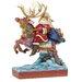 Heartwood Creek Next Stop, the Rooftop Santa riding reindeer Figurine