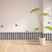 Crearreda Home Decor Line Fence and Birds Wall Sticker