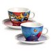 Egan 4 Piece Heart and Instant Cappuccino Cup with Saucer Set