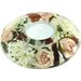 Dreamlight Teelichthalter Antique Rose aus Glas