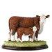 Enesco BFA Studio Hereford Cow and Calf Figurine