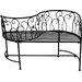 Noor Living 2-Sitzer Gartenbank aus Metall