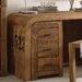 Massivum Schreibtischcontainer Sheffield mit 3 Schubladen