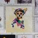 Massivum Leinwandbild Hund mit Brille