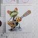 Massivum Leinwandbild Frosch Musiker