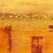 """DEInternationalGraphics """"Orange Landscape"""" von Rose Richter- Armgart, Kunstdruck"""
