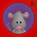 """DEInternationalGraphics """"Zodiaque Chinois- Rat"""" von Myriam Lakraa, Kunstdruck"""