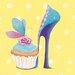 "DEInternationalGraphics ""Fairyshoes I"" von Lorrie McFaul, Kunstdruck"