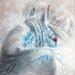 """DEInternationalGraphics """"Brume d´argent I"""" von Cédric Cazal, Kunstdruck"""