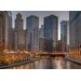"DEInternationalGraphics ""Peaceful Chicago"" von Aurélien Terrible, Fotodruck"