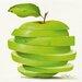 """DEInternationalGraphics """"Green Apple Cut"""" von Paolo Golinelli, Kunstdruck"""