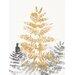 """DEInternationalGraphics """"Blattgold II"""" von SARA Design, Kunstdruck"""