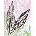 """DEInternationalGraphics """"Leaf Study rose I"""" von SARA Design, Kunstdruck"""