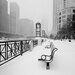 "DEInternationalGraphics Acrylglasbild ""Chicago River Promenade in Winter"" von Dave Butcher, Fotodruck"
