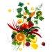 """DEInternationalGraphics Acrylglasbild """"Vitamines I"""" von Peter Hillert, Kunstdruck"""