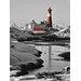 """DEInternationalGraphics """"Leuchtturm Hamaro"""" von Rolf Fischer, Kunstdruck"""