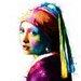 """DEInternationalGraphics Acrylglasbild """"Vermeer Pop"""" von Patrice Murciano, Kunstdruck"""