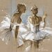 """DEInternationalGraphics """"White Dress II"""" von Kitty Meijering, Kunstdruck"""